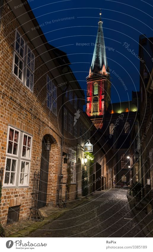 Historic church colorful illuminated. cathedral tower religion architecture glass window stained glass old outdoor religious catholic night building light