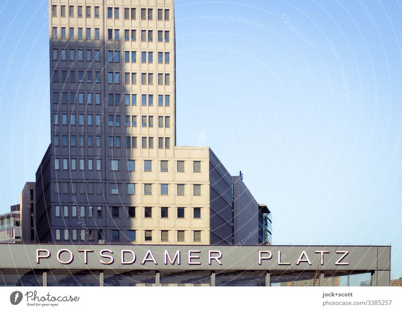 Potsdamer Square Silhouette Time Modern Potsdamer Platz Characters Facade High-rise Downtown Berlin Places Architecture Capital city City Exterior shot