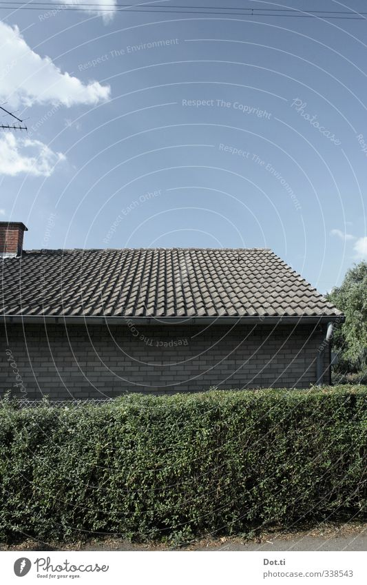 at the Laubenpieperei Sky Clouds Garden House (Residential Structure) Building Wall (barrier) Wall (building) Roof Chimney Green Orderliness Arrangement