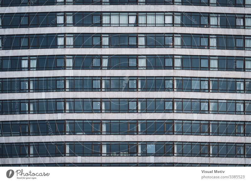 Rows of windows of an urban building rows structure Architecture abstract building facade urban facade color exterior repetition no people pattern outdoors City