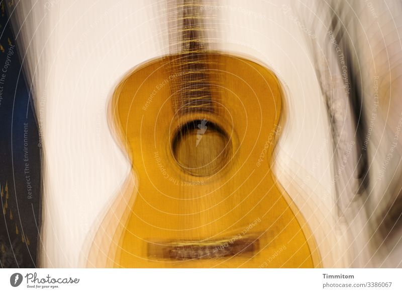 Guitar and pictures on the wall classical guitar body Fretboard String instrument strings Musical instrument Acoustic Picture book multiple exposure
