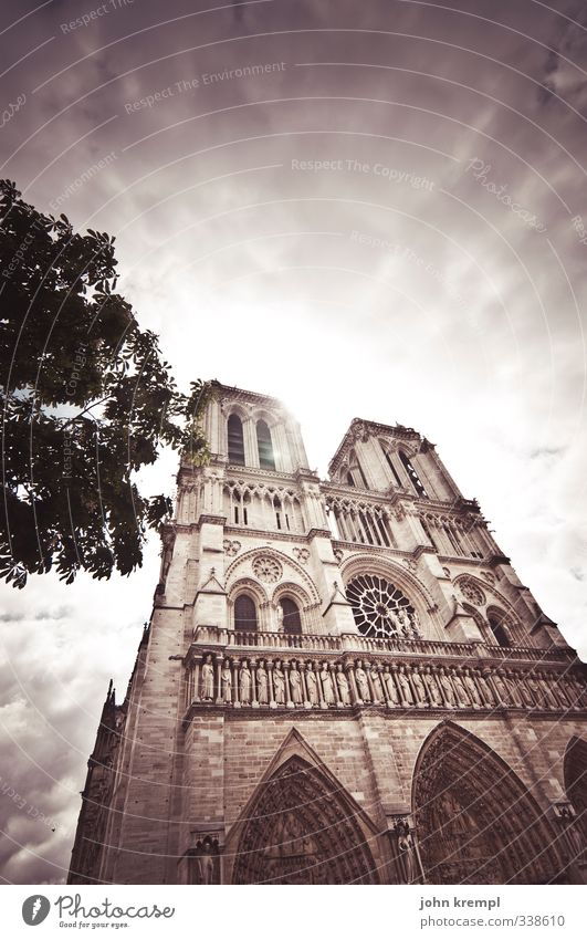 Our dear wife Sky Clouds Paris France Capital city Church Manmade structures Building Architecture Cathedral Notre Dame Illuminate Gigantic Original Bravery