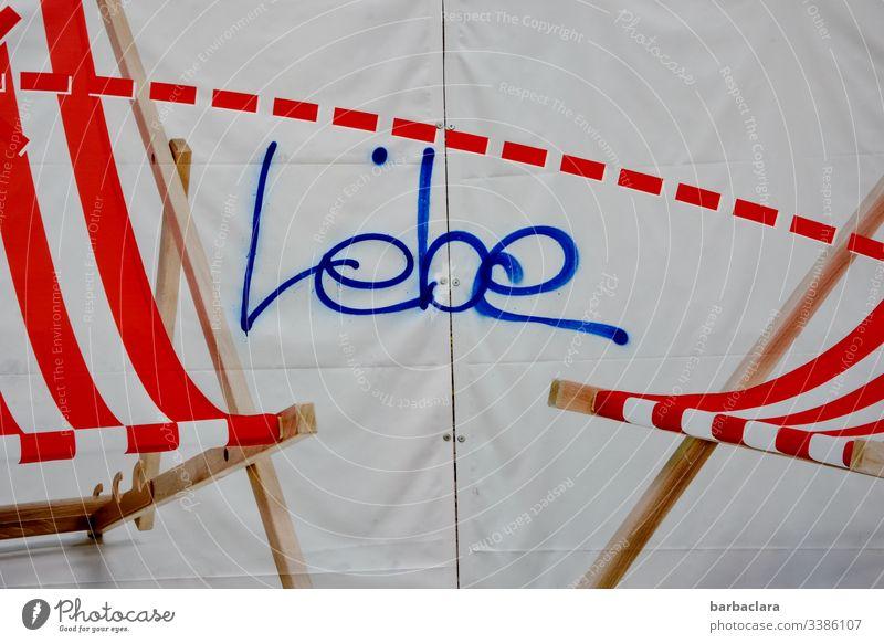 Live lettering beach chair Deckchair Graffiti Stripe Life Summer Cloth Art street art Street art photos