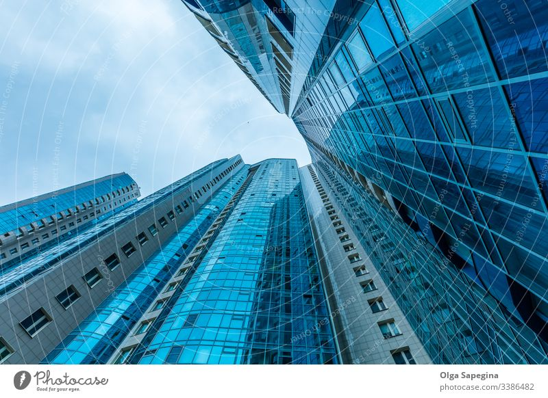Modern building exterior modern architecture office buildings sky business city facade glass blue background skyscraper urban abstract center structure