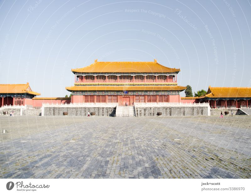 Residence of an Emperor Palace Places Tourist Attraction Manmade structures Pavilion Landmark World heritage Historic Imperial Chinese Old town Wide angle