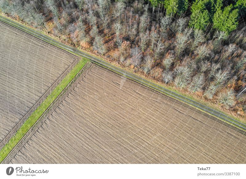 #Field from above 1 drone from on high agriculture Working in the fields Margin of a field Forest Farm