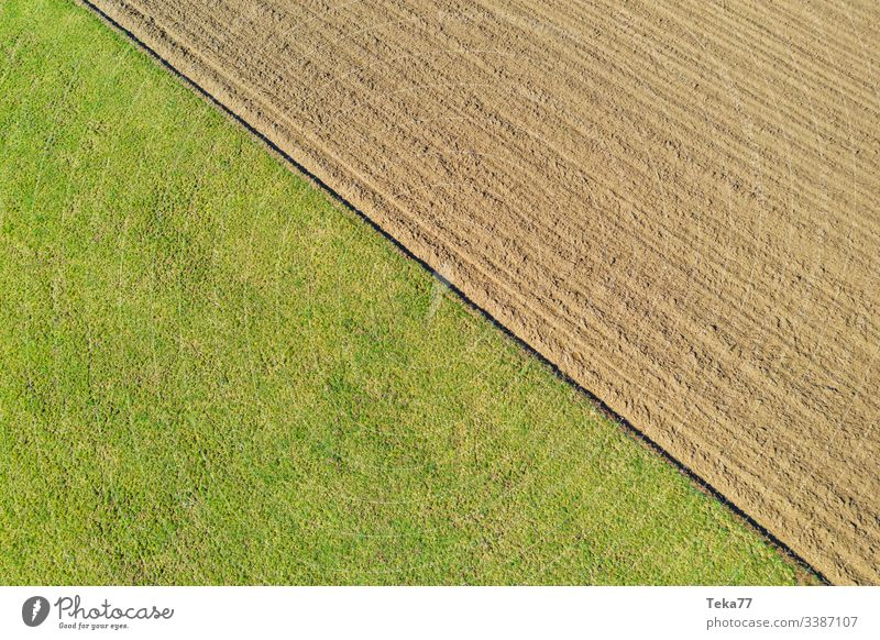 #Field and field from above drone from on high agriculture Working in the fields Margin of a field Forest Farm two grass acre Divide Nature Germany lines