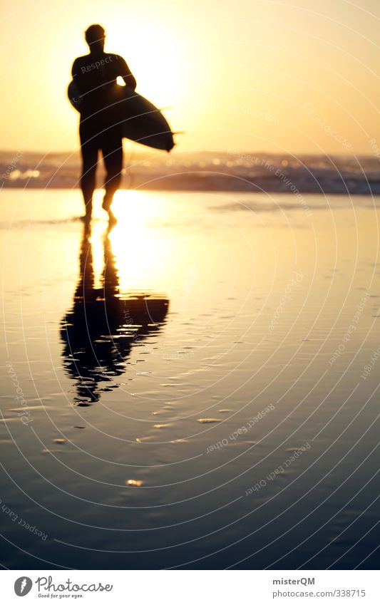 Step into Sun. Lifestyle Elegant Style Exotic Leisure and hobbies Art Esthetic Contentment Surfing Surfer Surfboard Surf school Beach Coast Relaxation