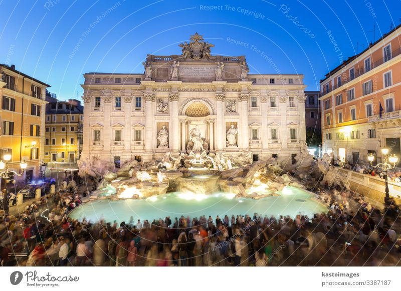 Rome Trevi Fountain or Fontana di Trevi in Rome, Italy. rome fountain trevi architecture fontana di trevi city europe italy landmark roman sculpture travel