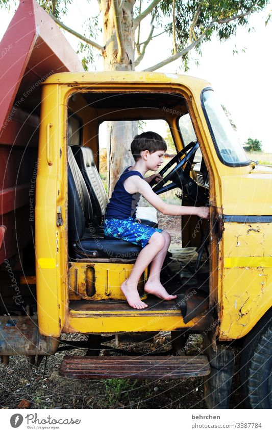 lost places | in my dream i can drive around the world with him concentrated observantly inquisitorial Family Happiness Light Cute Curiosity Son Happy fortunate