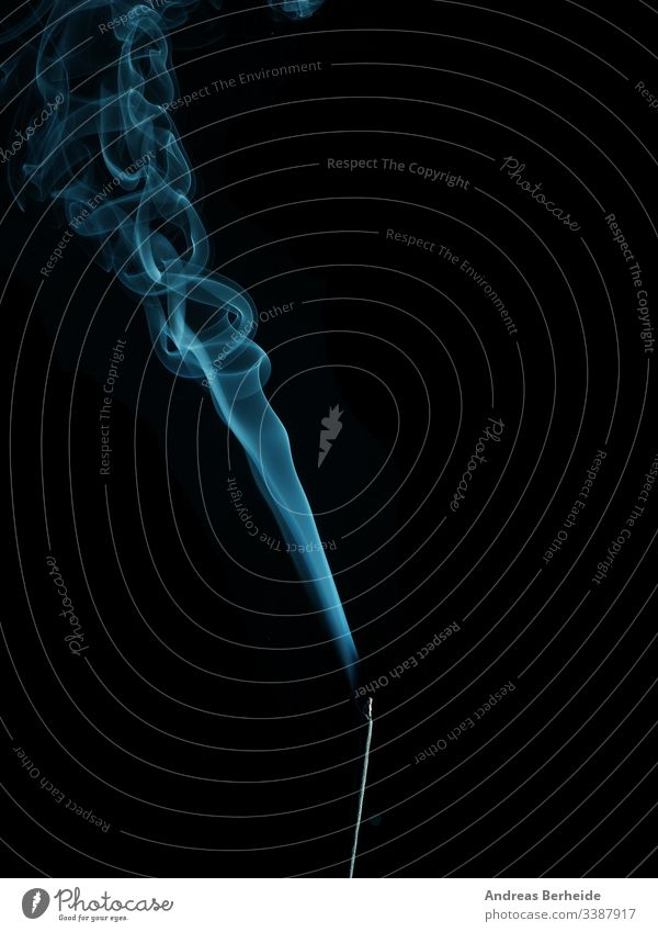 Incense with blue smoke incense elegant backdrop form detail aroma slow science fog horror studio fumigate texture mystery fumes movement wallpaper shot toxic
