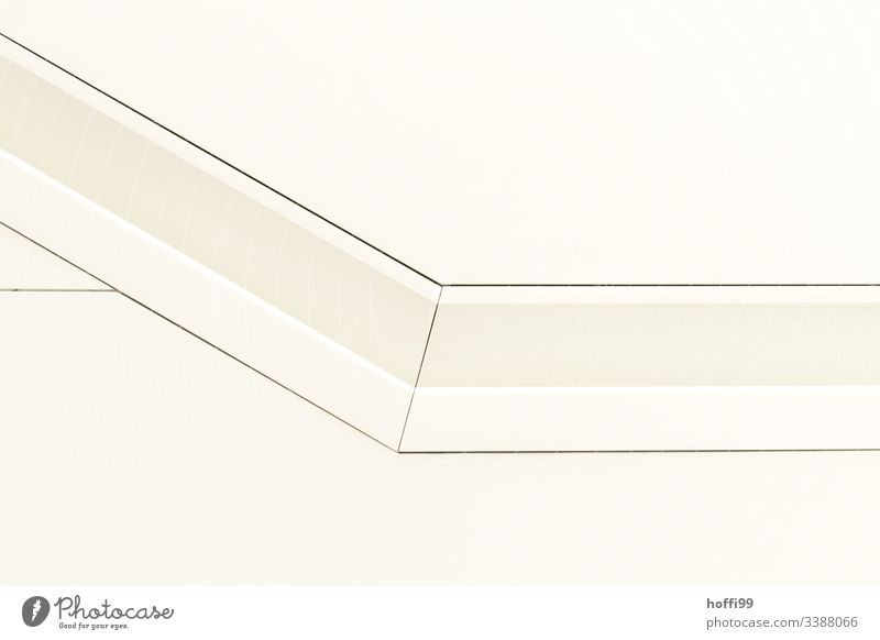 white handrail in the wall Architecture Handrail Abstract Pattern Minimalistic minimalism Structures and shapes Deserted Style Sharp-edged Illustration Line