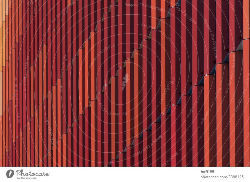 red striped exterior facade minimalist background minimalistic pattern Design Colour photo Structures and shapes Geometry urban forms Bright Colours