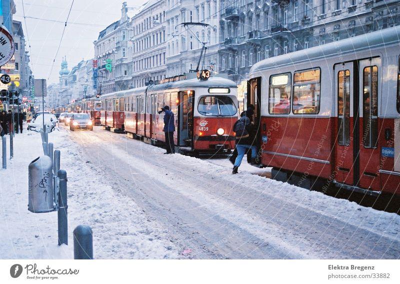 Winter Snow Chaos Vienna Tram Austria