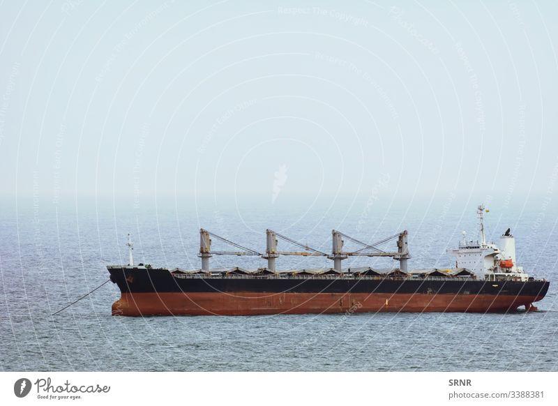 Bulk Carrier Ship anchorage aqua aquatorium black sea boat bulk carrier bulker cargo ship cloud control cabin deck-cabin deckhouse dry-cargo ship fog
