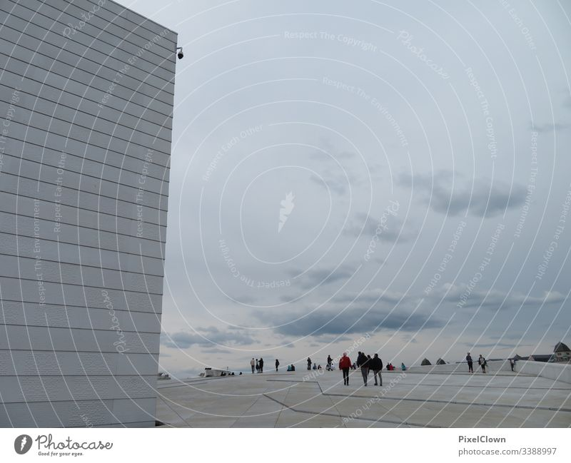 Opera in Oslo, Norway Exterior shot Vacation & Travel Colour photo Culture Architecture Town