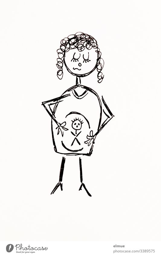 stick figures girl Stick figure Scribbles Draw Drawing symbolism Communication scribble Interpret Painting (action, artwork) Pictogram sketch Style stylized