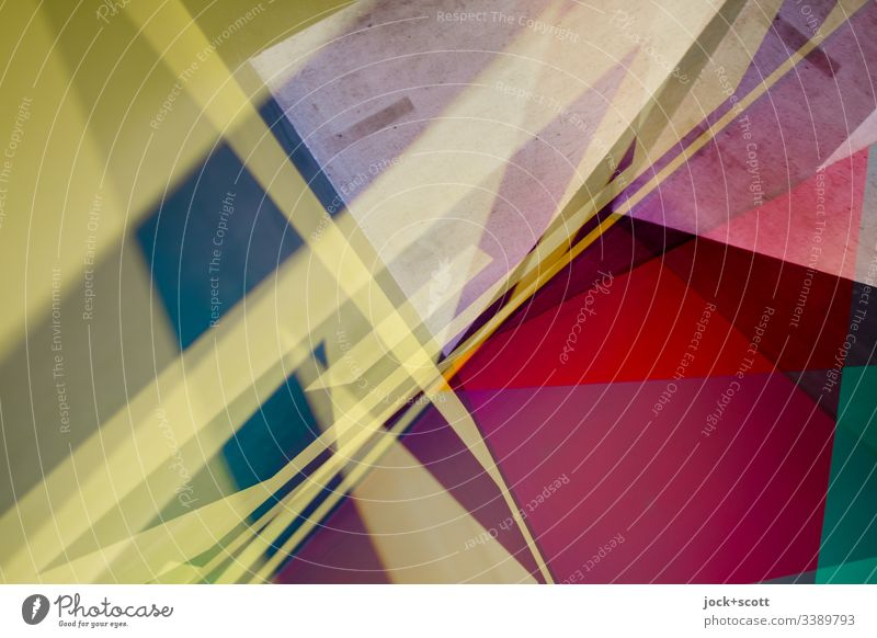 Colorful mix of colors and shapes Complex Double exposure Multicoloured Pop Art Experimental Abstract Pattern Structures and shapes Design Style Illustration