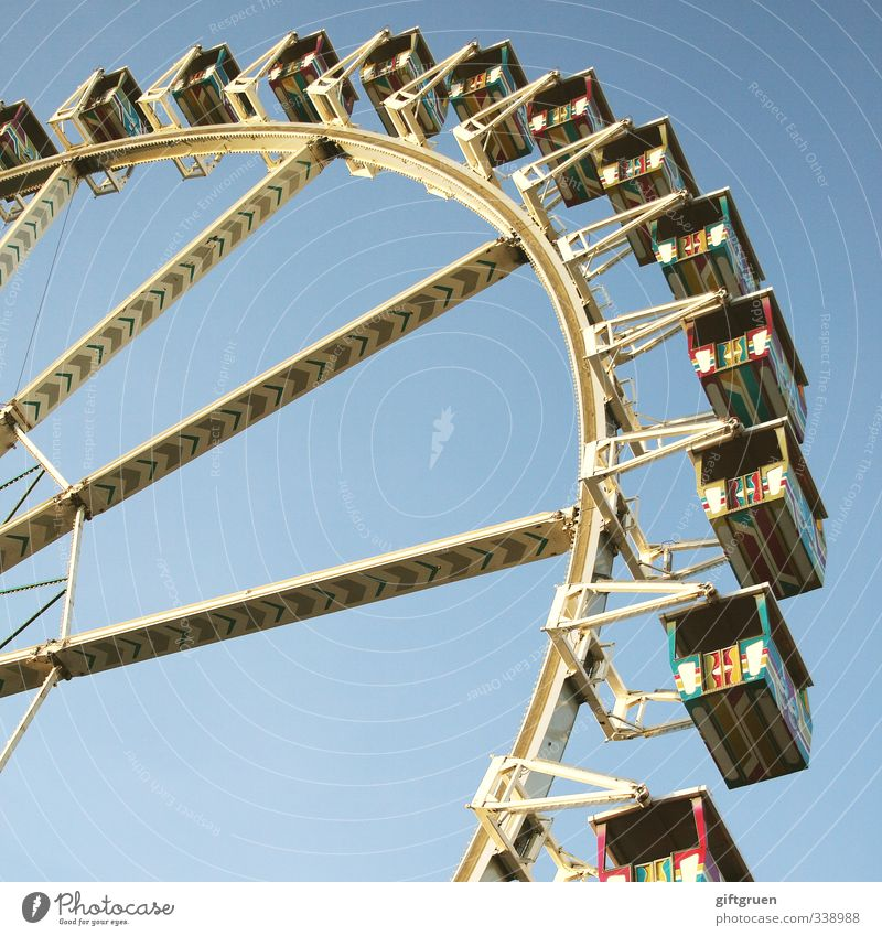 life is like a ferris wheel Joy Leisure and hobbies Playing Adventure Sightseeing Feasts & Celebrations Fairs & Carnivals Steel Rotate Round Moody Happy