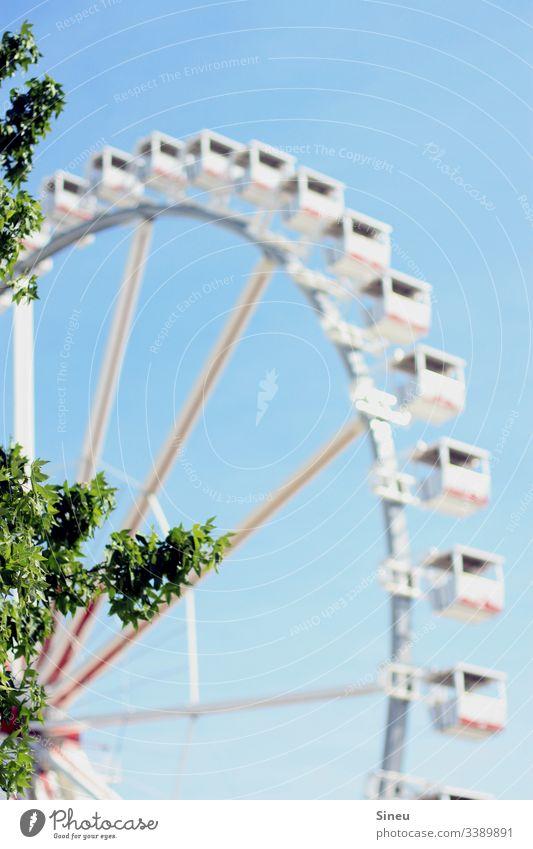 Aviation II Ferris wheel Ferris wheel ride gondola Leisure and hobbies Fairs & Carnivals leisure park Amusement Park Sky Blue sky clear good weather Summer Trip