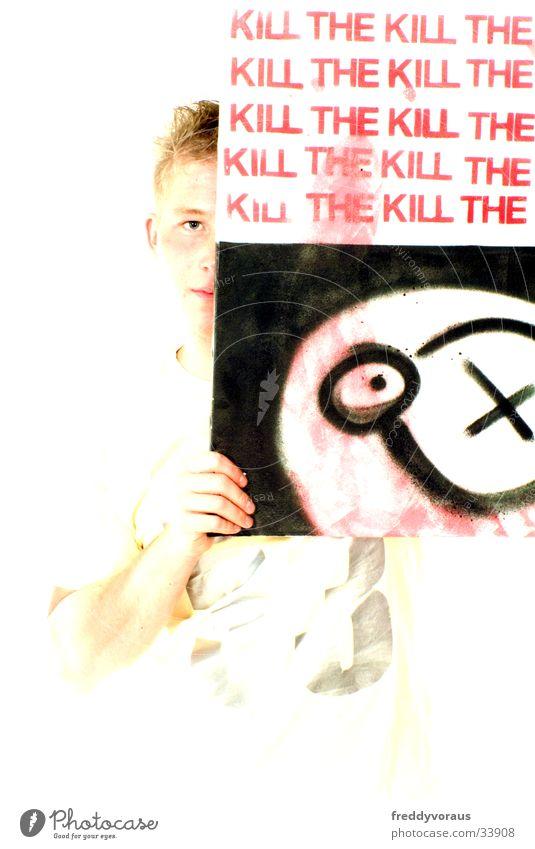 Bo Man Spray can Kill the Kill Image Colour Graffiti