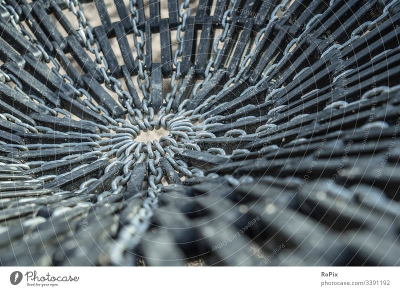 Playground swing seat pattern. abstract texture metal black glass blue steel water white industry macro broken wallpaper chain playground network ring