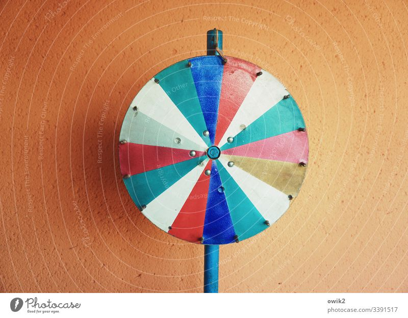 wheel of fortune symbol Round Segments Colour Rotate Stand Wall (building) Facade Plaster