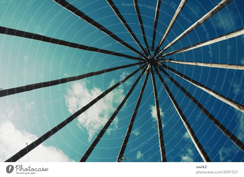 In a tepee Above Sky Clouds mast Aspire Tent Tee Pee Simple