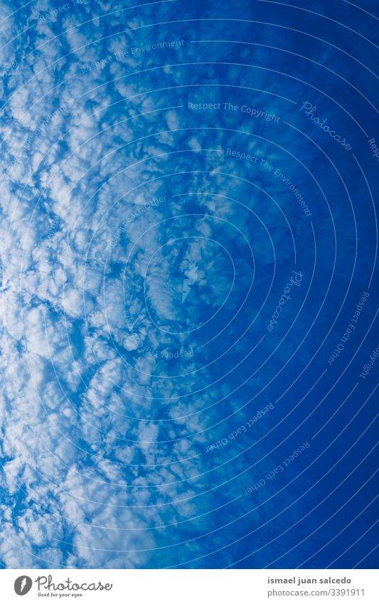 blue sky with white clouds minimal nature abstract textured view horizon background weather exterior day