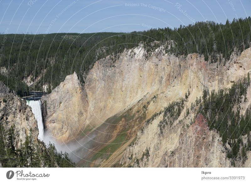 yellowstone national park the nature wyoming wonder holiday scene hot destination glory scenery faithful mountain america view travel landscape water scenic