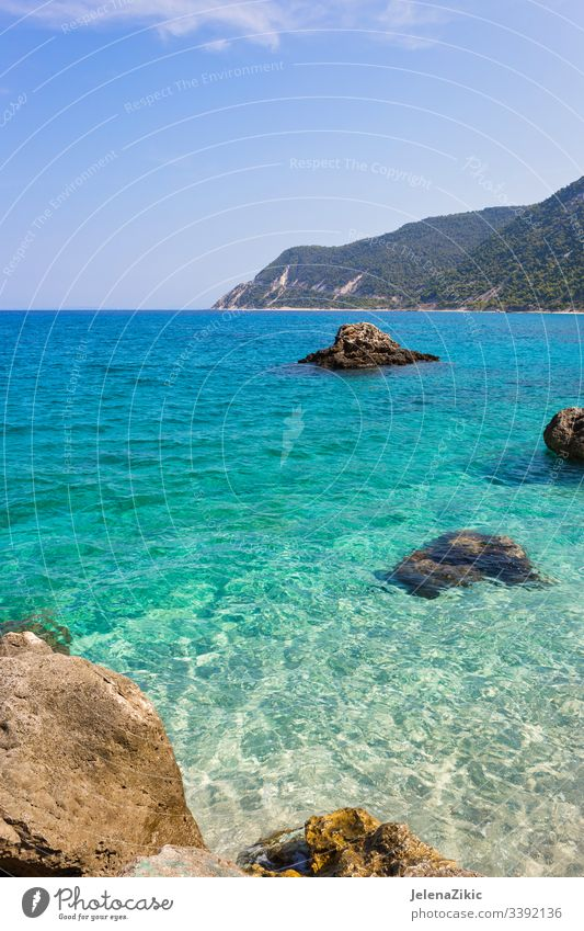 Agios Nikitas village on Lefkada island sea vacation water breathtaking greece beautiful lefkada fishing picturesque tranquil mountains touristic relax travel