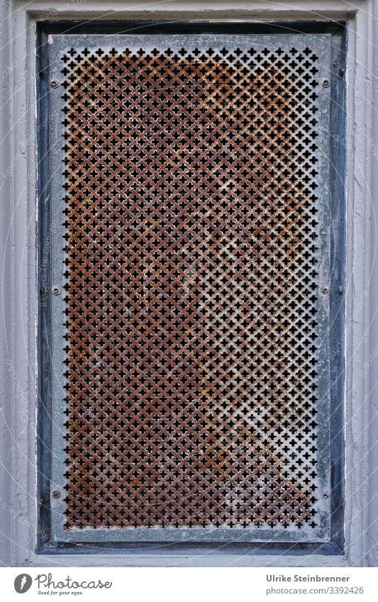Rusty window grille Grating Cellar window Opening Window