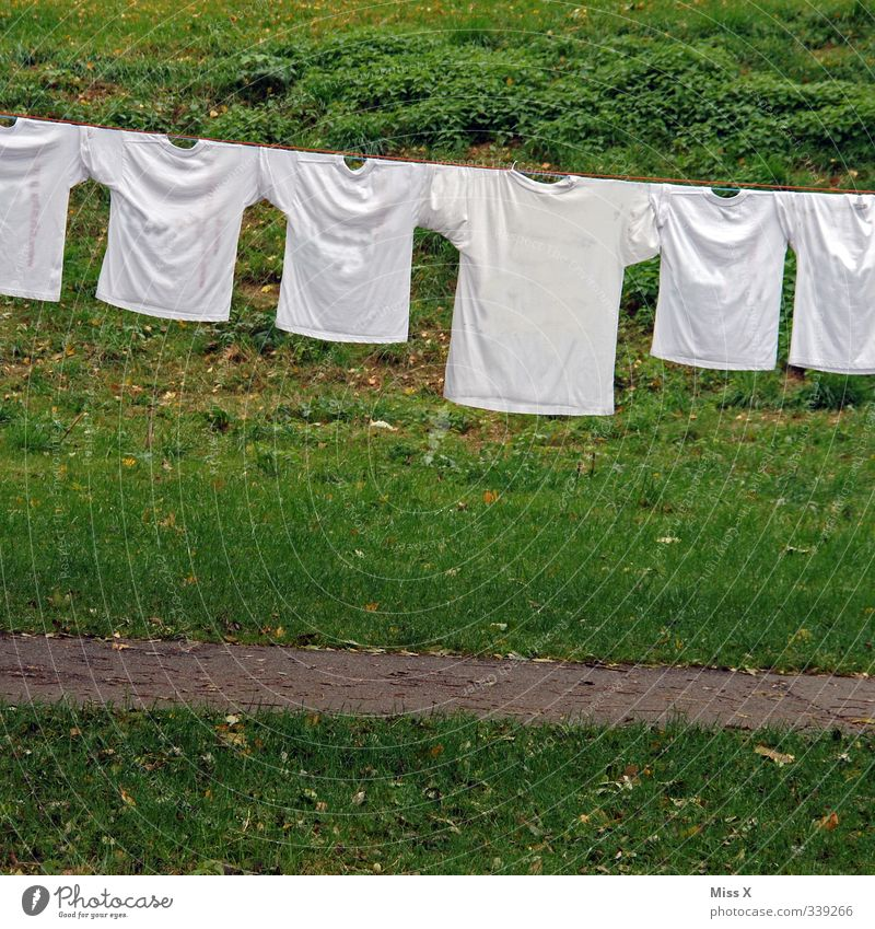 White Life Emotions Garden Moody Family & Relations Fresh Clothing Cleaning T-shirt Dry Washing Row Clothesline