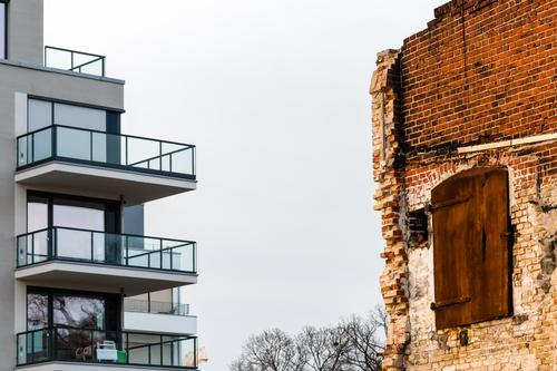 old house vs. new house architecture balconies brick broker build building capital cement city closure collapsing construction design dislodge displacement