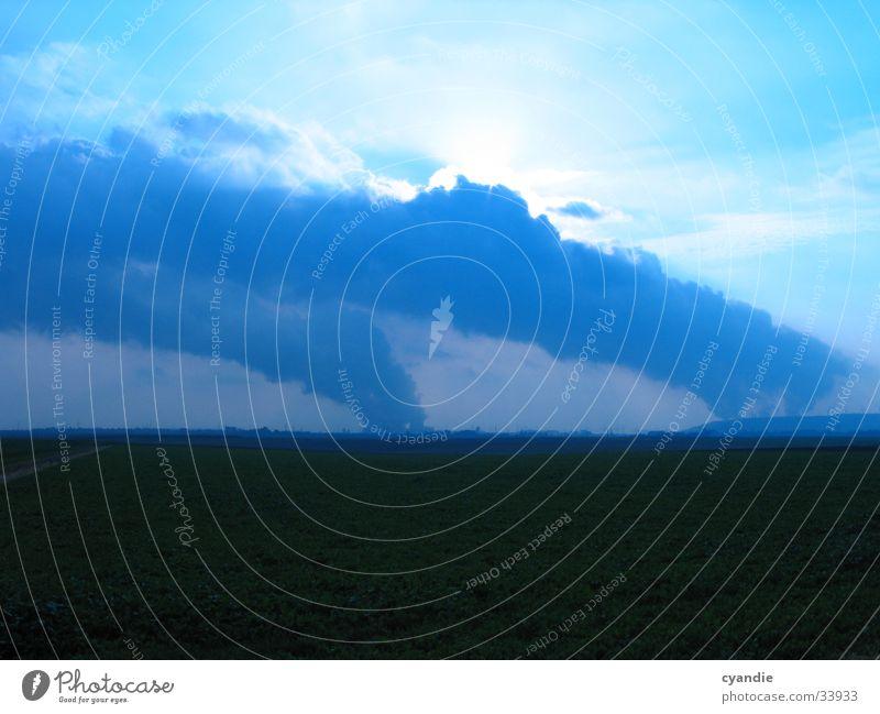 Sky Sun Clouds Landscape Field Environmental pollution