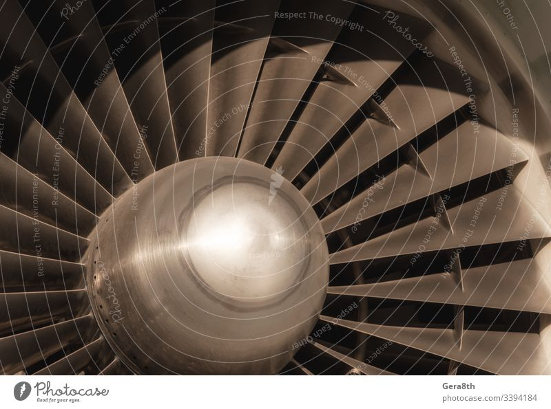 airplane turbine fragment close up background abstract air transport aviation blades circle closeup color compression engine engineering flight flow fly