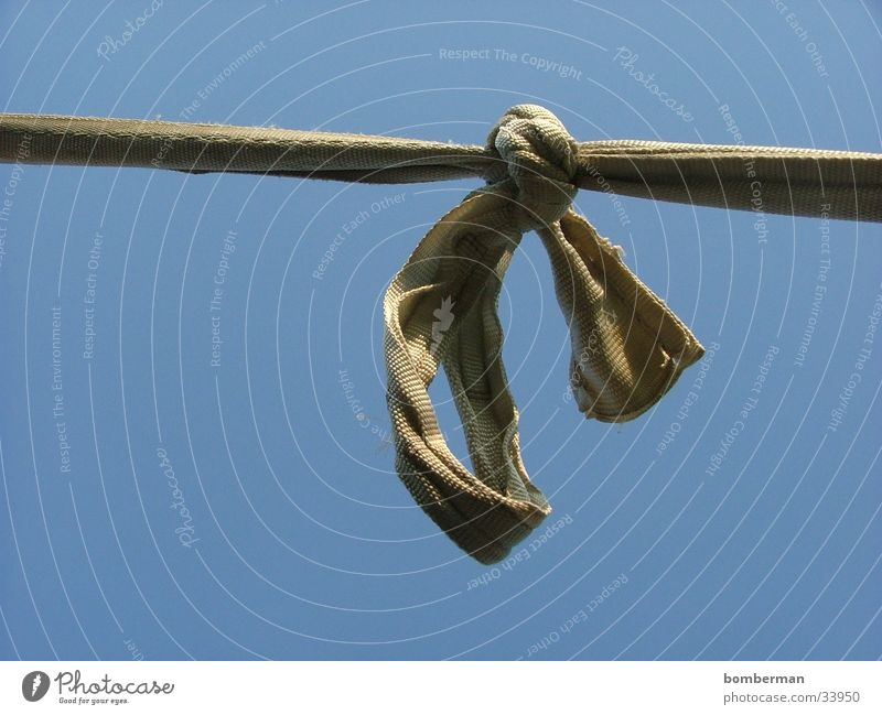 of the knots Bow Photographic technology Rope Knot String Sky Blue