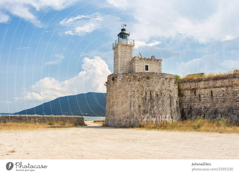 Agia Mavra (Santa Maura) Castle in Lefkas fortress Light Historic Architecture Sky Vacation & Travel Landscape Building Exterior shot Old Ancient medieval