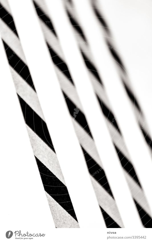 Washi Tape Strips tape sticker washi tape Stripe Structures and shapes Black & white photo Interior shot Day Line Shadow Contrast Copy Space top Deserted