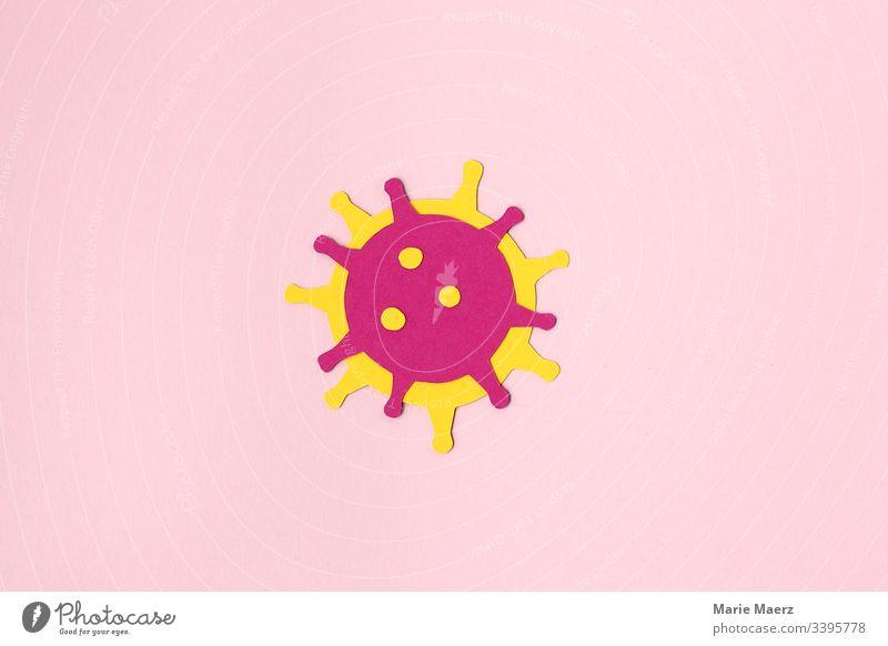 Coronavirus - Abstract Virus medicine coronavirus flu Immunization research Healthy Illness Epidemic Infection Close-up Neutral Background Individual