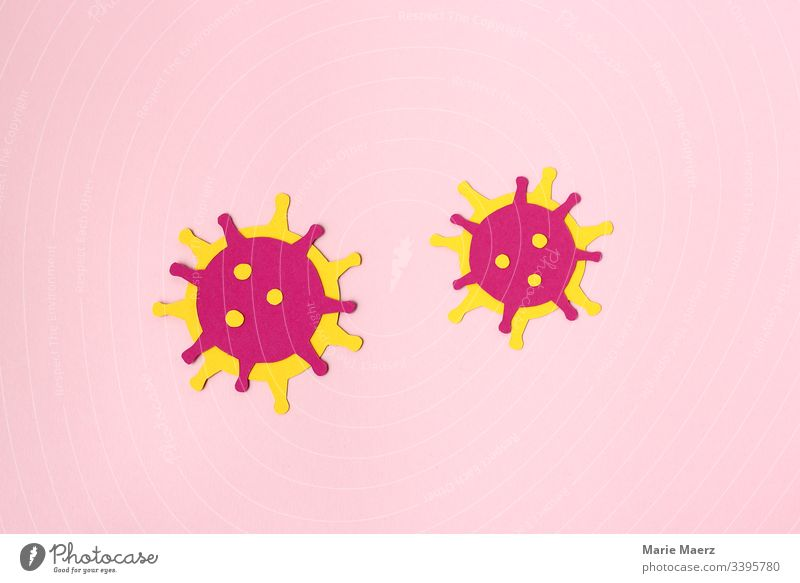 Coronavirus - Abstract Virus Illustration on paper medicine Microscopic Illness Healthy Close-up Science & Research flu Bacterium coronavirus Neutral Background