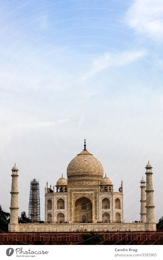 The fairytale Taj Mahal from the other side of the holy Yamuna River. A masterpiece of architecture and a wonderful declaration of love. Almost too magical as a mausoleum.