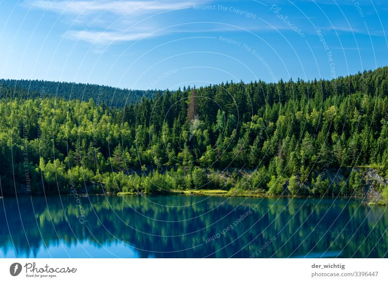 Mountain lake 2 Lake Water Calm Relaxation Sky Vacation & Travel Summer Blue Nature Exterior shot Colour photo Forest Landscape Deserted Idyll Beautiful weather