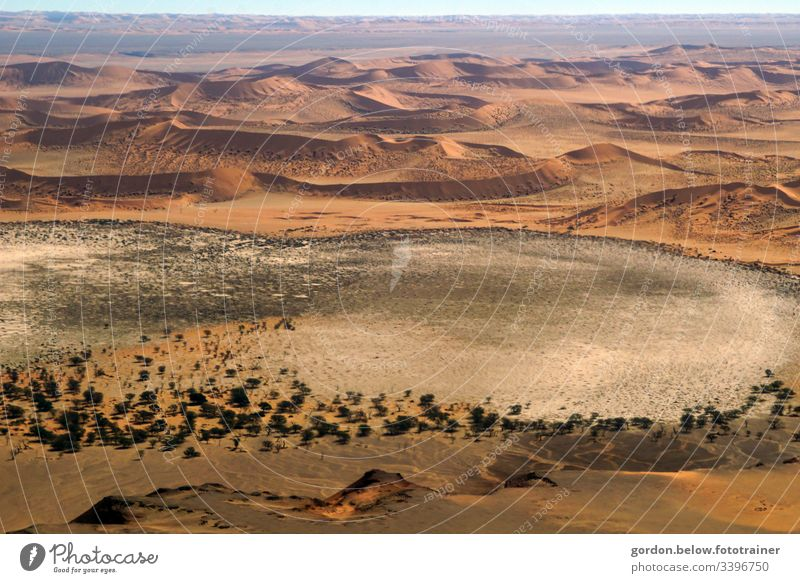 Desert Namibia formed by the wind! Colour photo day recording Deserted free surfaces Bird's-eye view Brown tones Light and shadow endless wide Vacation & Travel
