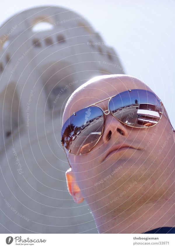 stephan Masculine Sunglasses San Francisco Bald or shaved head Man