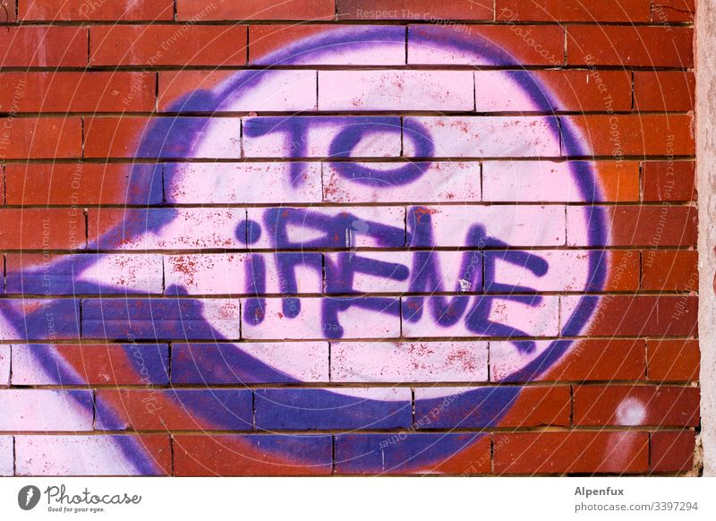 for (A)irene :) Letters (alphabet) Characters Word Graffiti Deserted Colour photo Typography Wall (building) Exterior shot Wall (barrier) Day Facade Street art