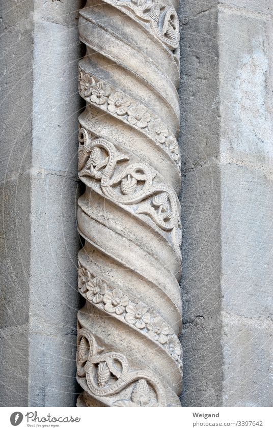 column Church Column gothic Portal Stone steimetz Architecture Colour photo Landmark