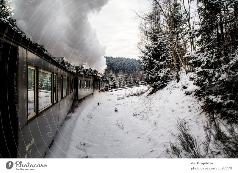 Trip with the narrow-gauge railway in the Harz Mountains Copy Space bottom Saxony-Anhalt Multicoloured Brocken Colour photo Exterior shot Deserted