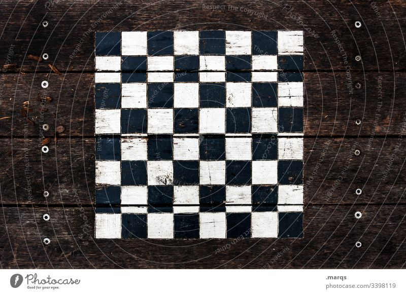 Outdoor chessboard Chess Chessboard Pattern Table chess game wood Leisure and hobbies Playing Concentrate Think Board game Brainteaser Brown outdoor