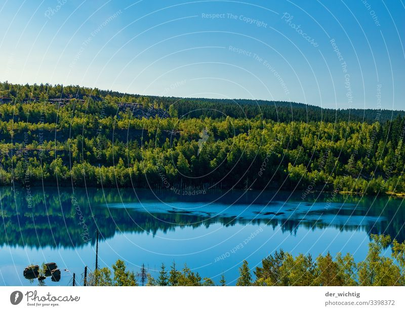 Mountain lake 1 Lake Water Calm Relaxation Sky Vacation & Travel Summer Blue Nature Exterior shot Colour photo Forest Landscape Deserted Idyll Beautiful weather